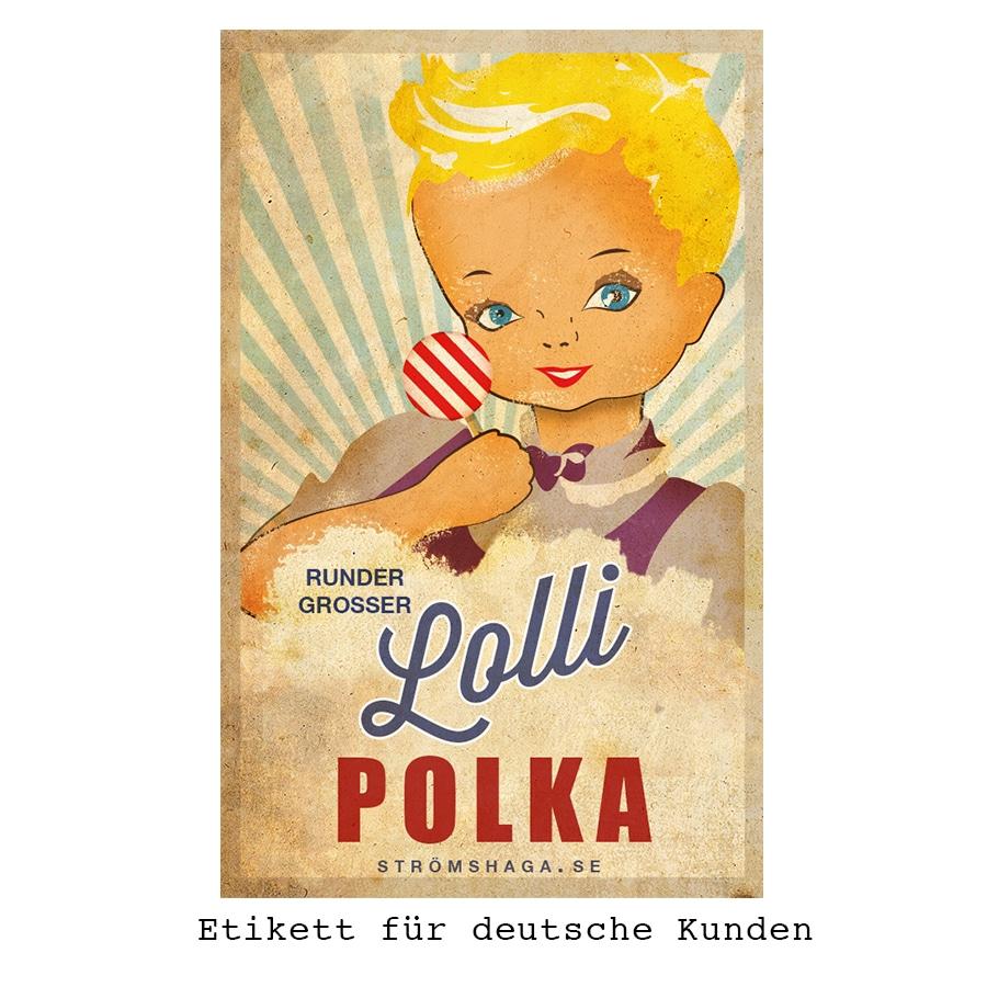 Round Big Lollipop Polka
