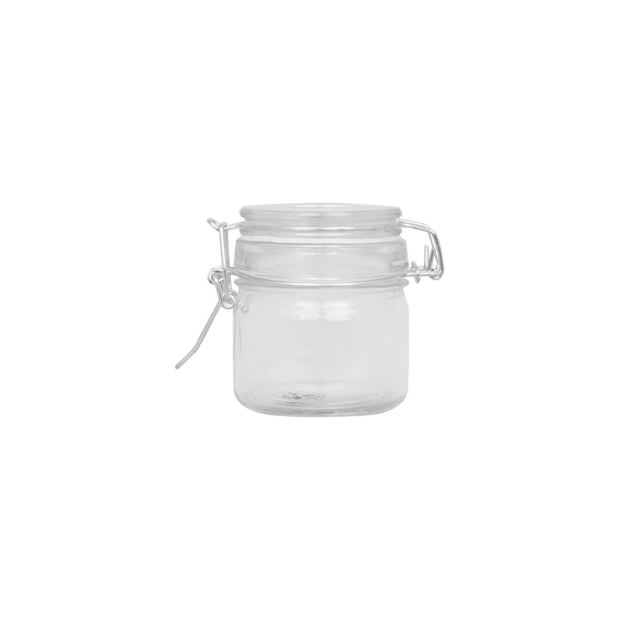 Glass Jar w. Locking Lid