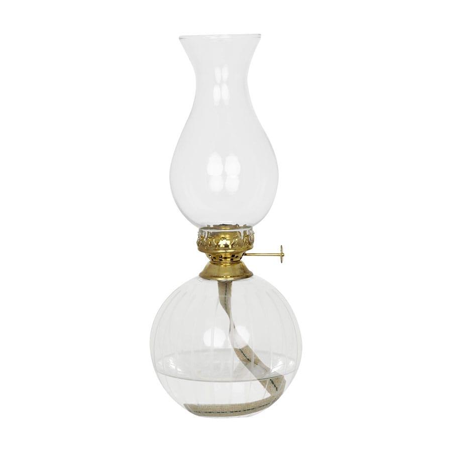 Kerosene Lamp Etched Round