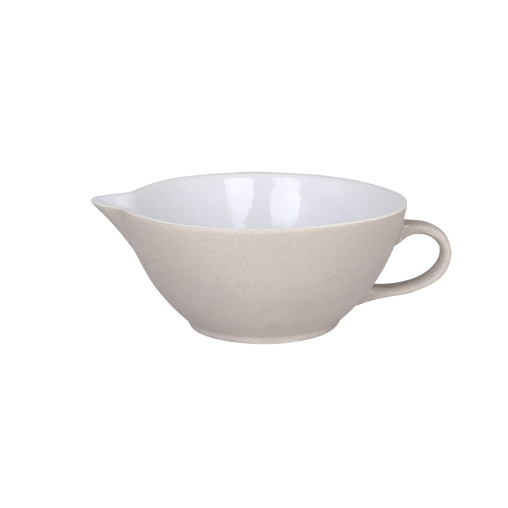 Bowl w. Spout and Handle Einar White Small