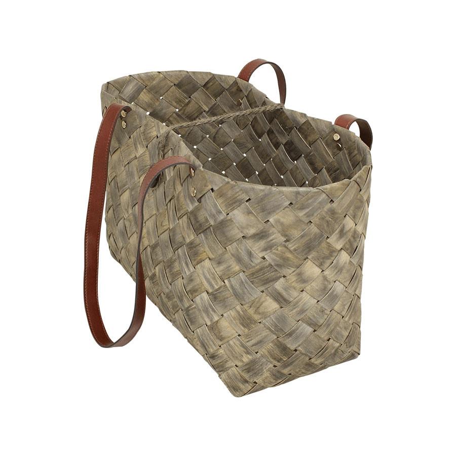 Beach Bag Wood Grey