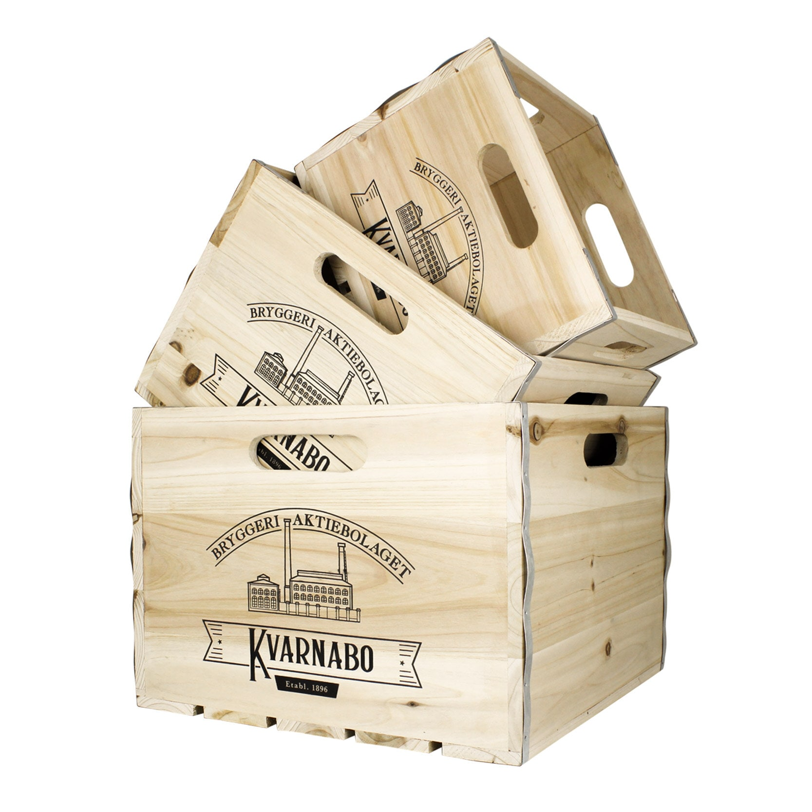 Wooden Kvarnabo Box S/3