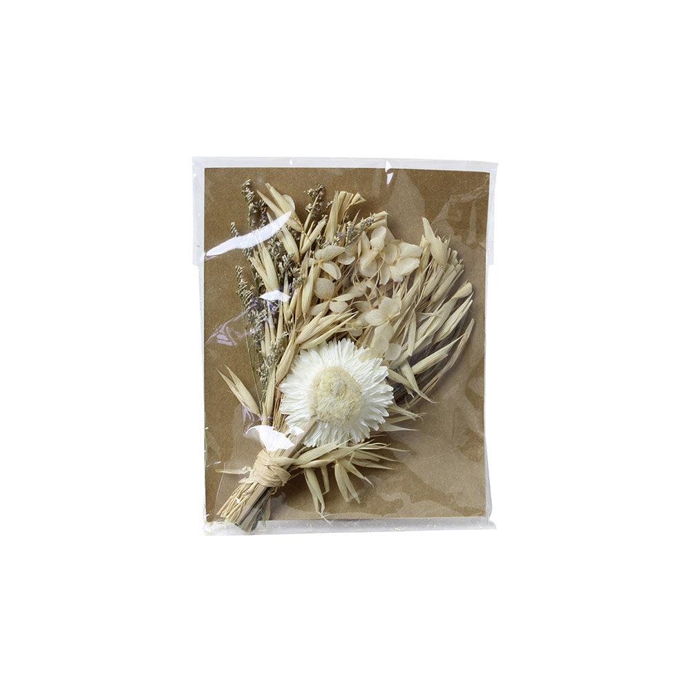 Mini Bouquet w. Greeting Card White