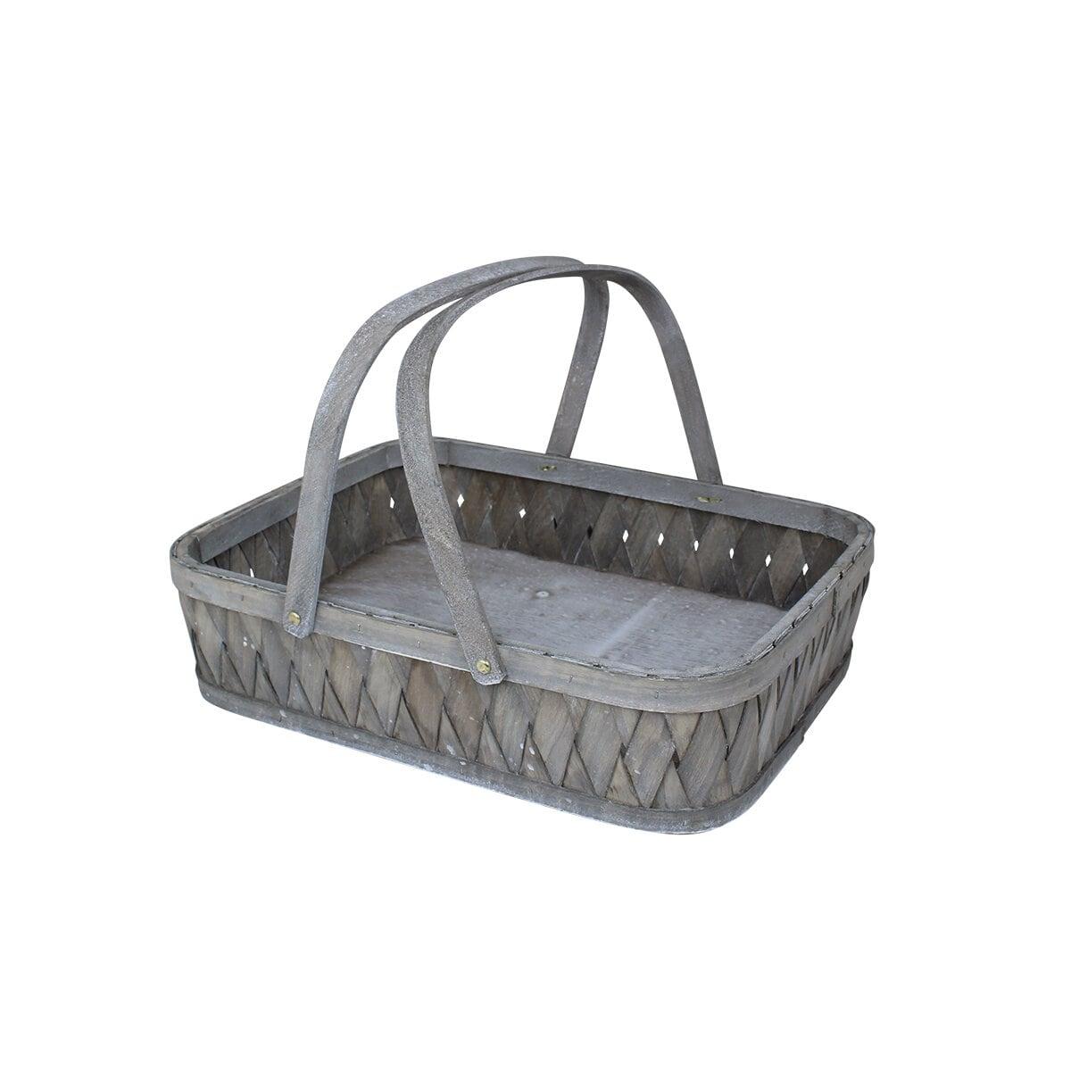 Tray Basket Wood Elsa Grey
