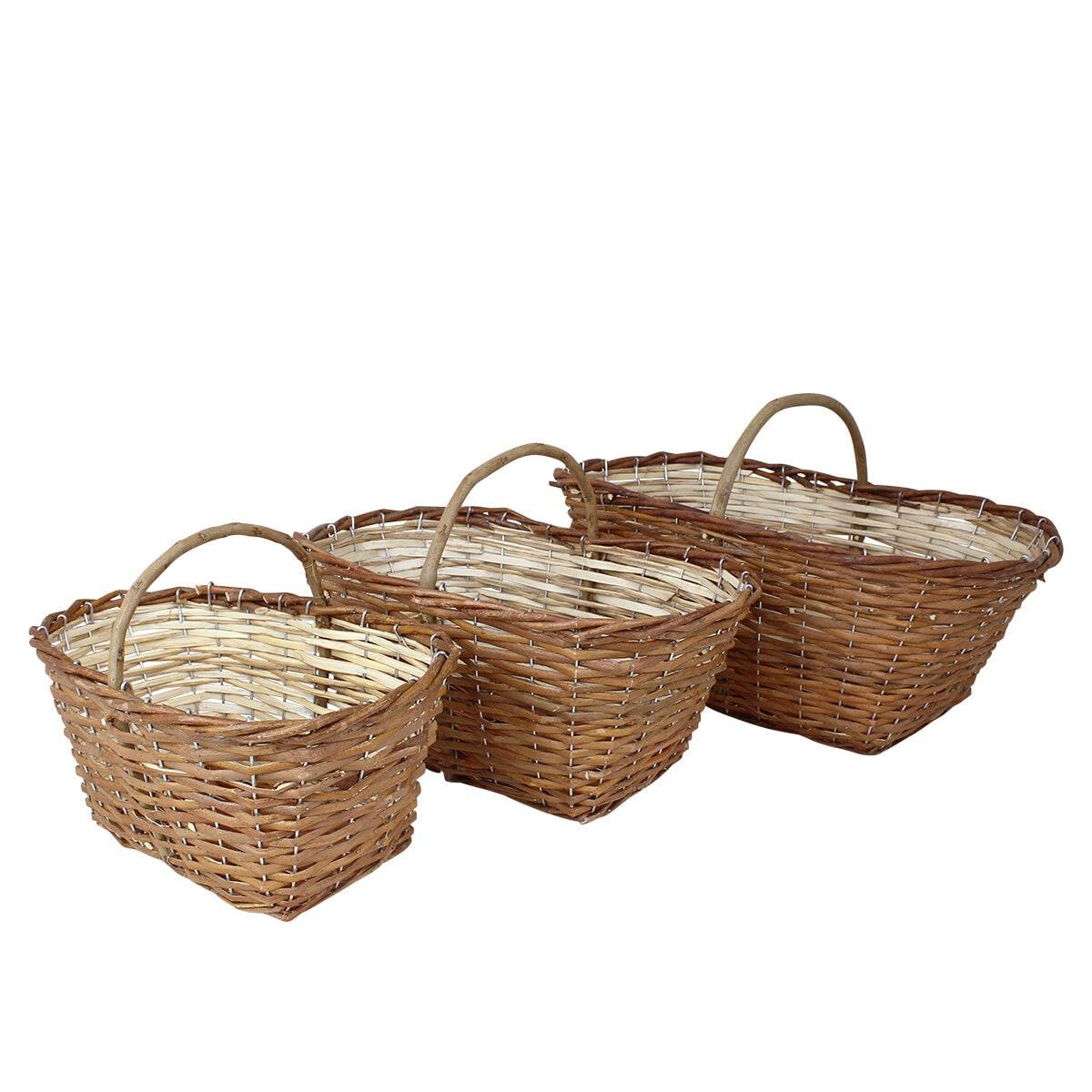 Willow Basket Iris S/3