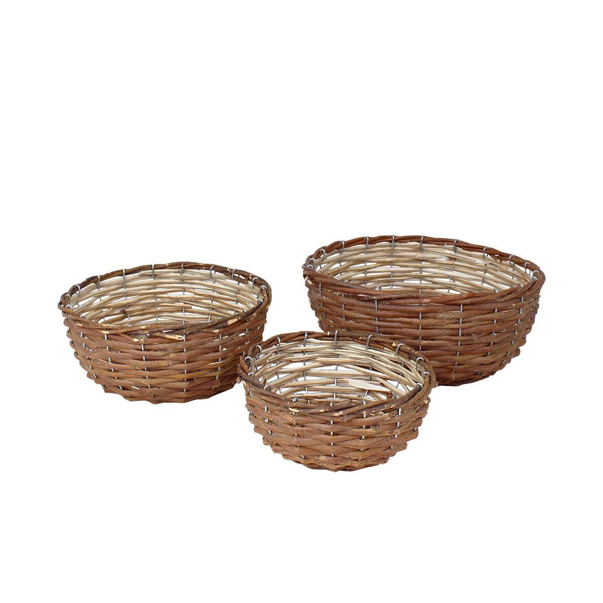 Willow Basket Iris Round S/3