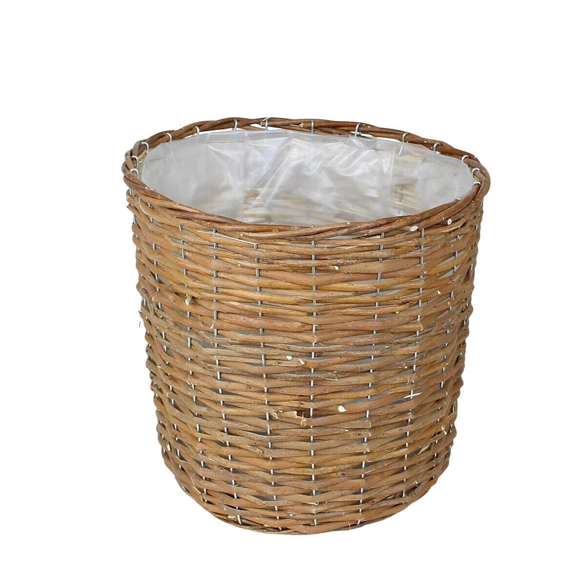 Willow Basket Iris Pot S/4
