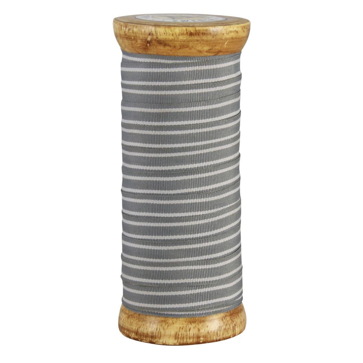 Textile Ribbon Stripes Grey/White