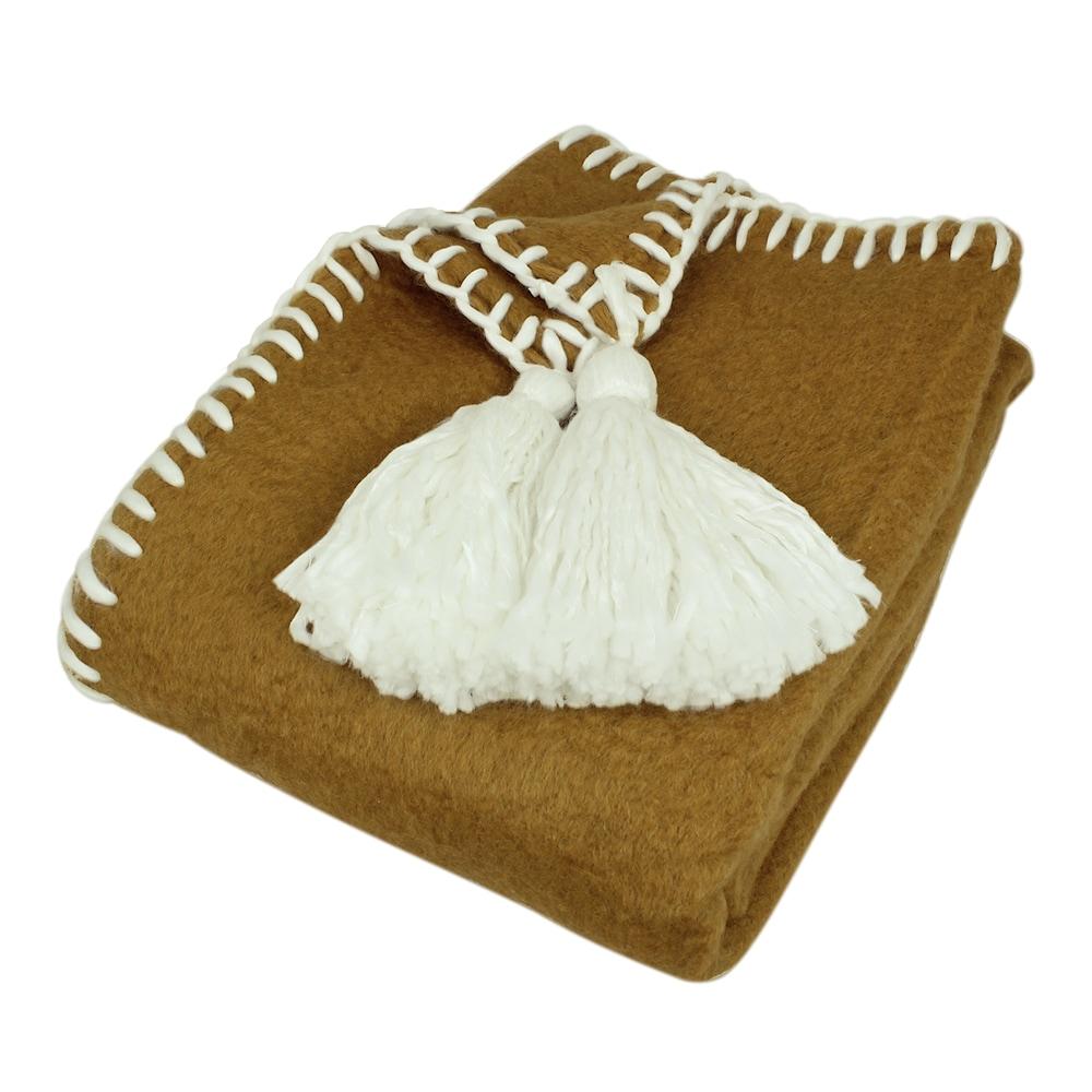 Wool Plaid Elly Ochre Yellow/White