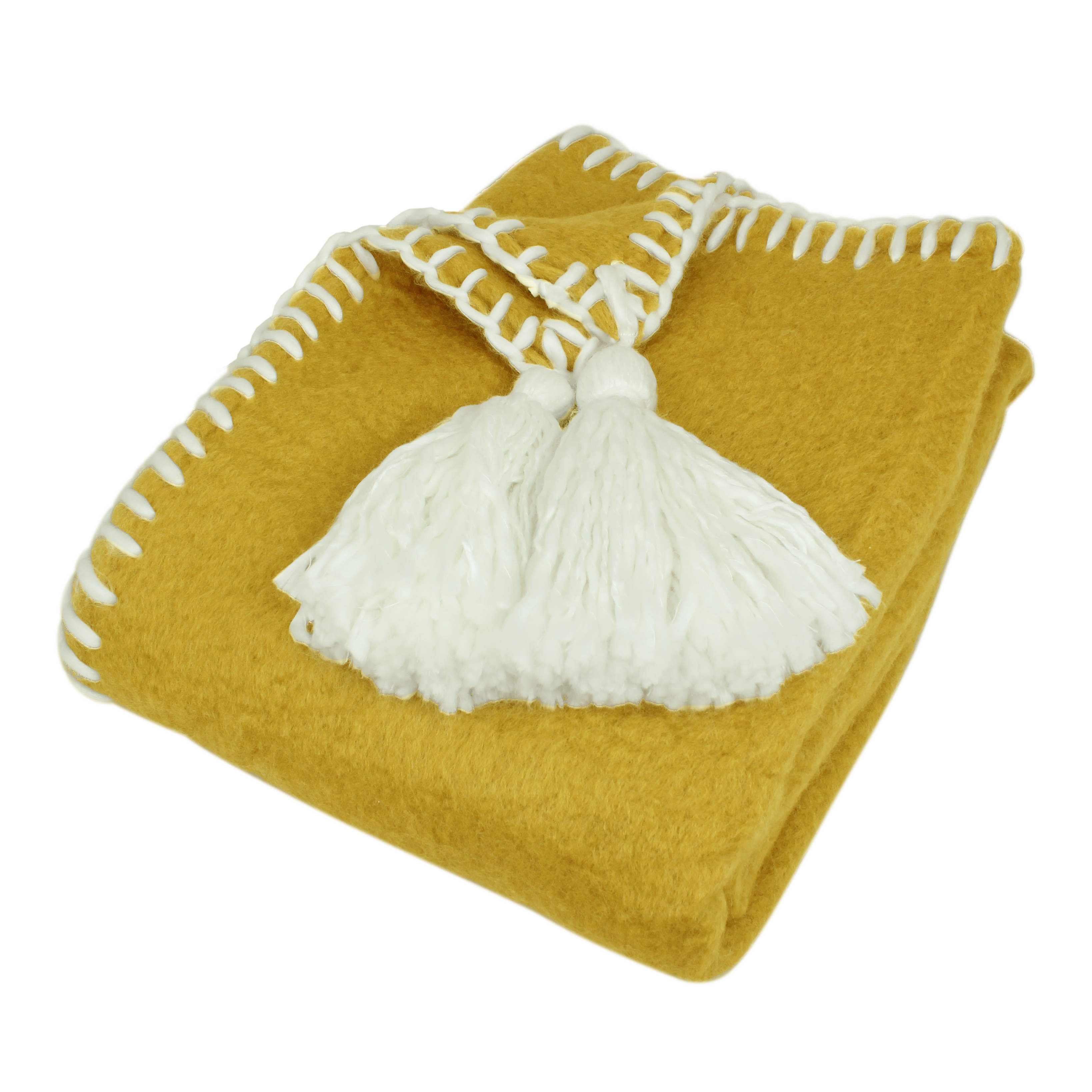 Wool Plaid Elly Yellow/White
