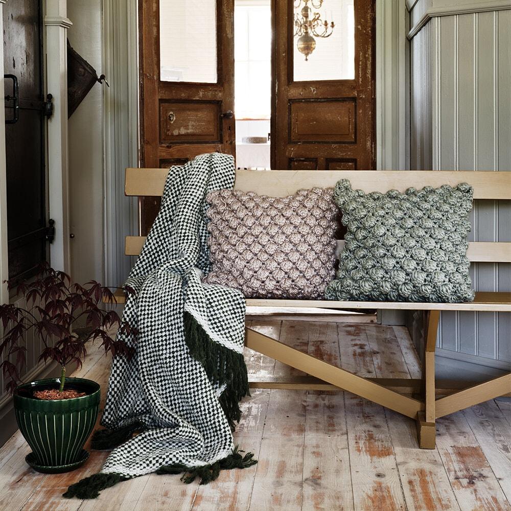 Wool Plaid Emil Olive/White