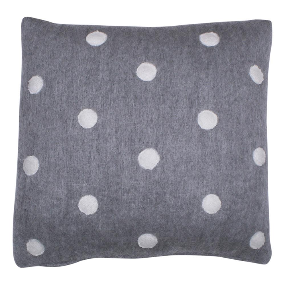 Cushion Cover Dot Grey/White