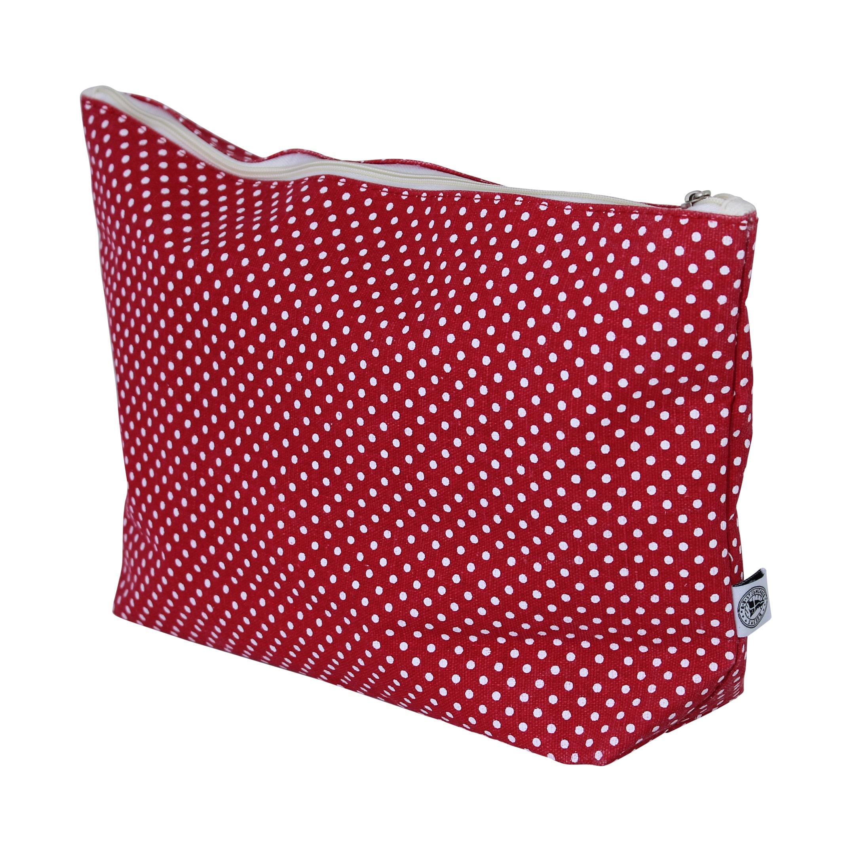 Toilet Bag Dot Red Large