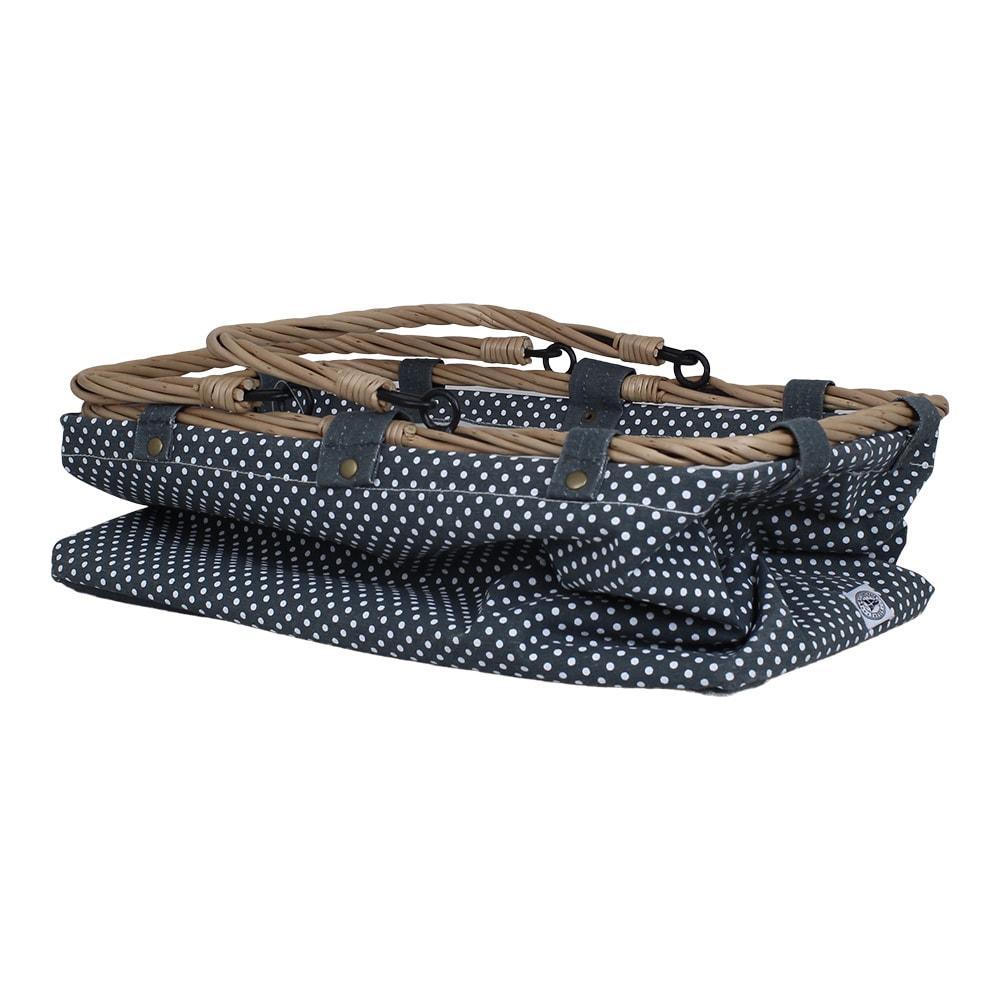 Textile Basket Dot Blue