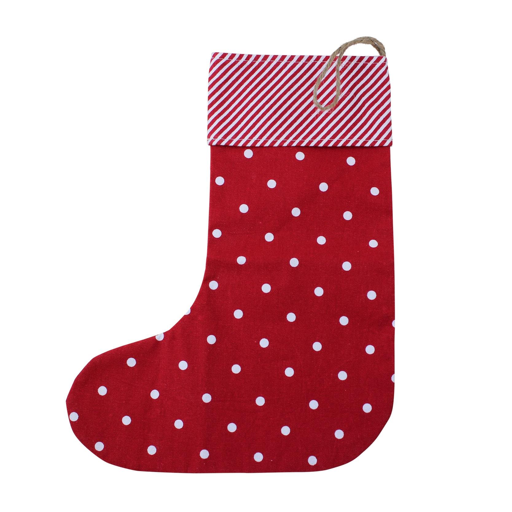 Christmas Sock Dot Red/White
