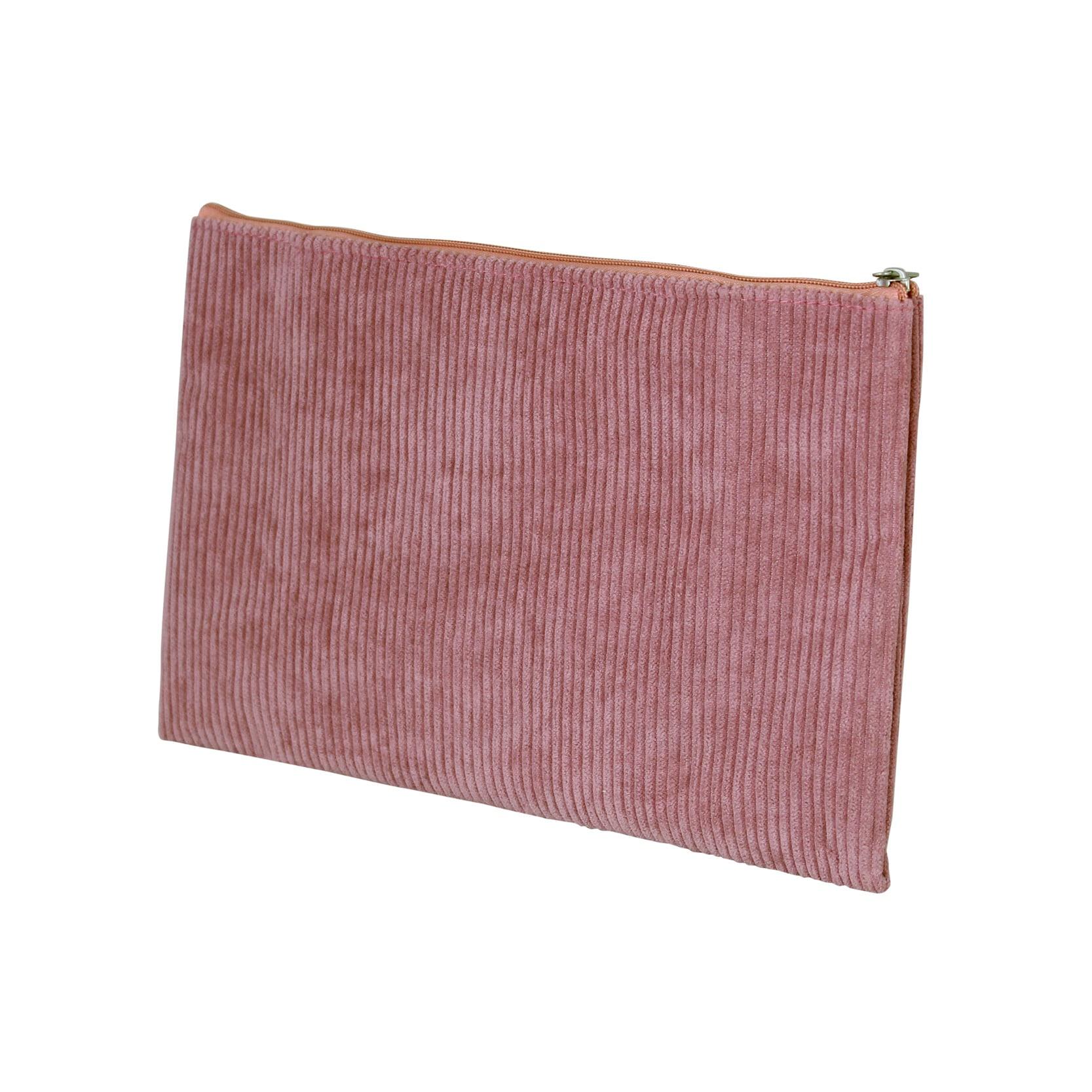 Toilet Bag Corduroy Pink