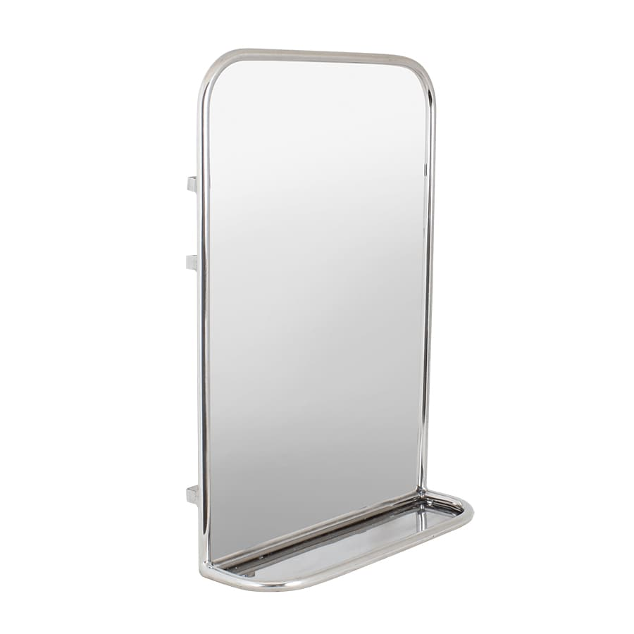 Bathroom Mirror w. Shelf Stainless Steel Small