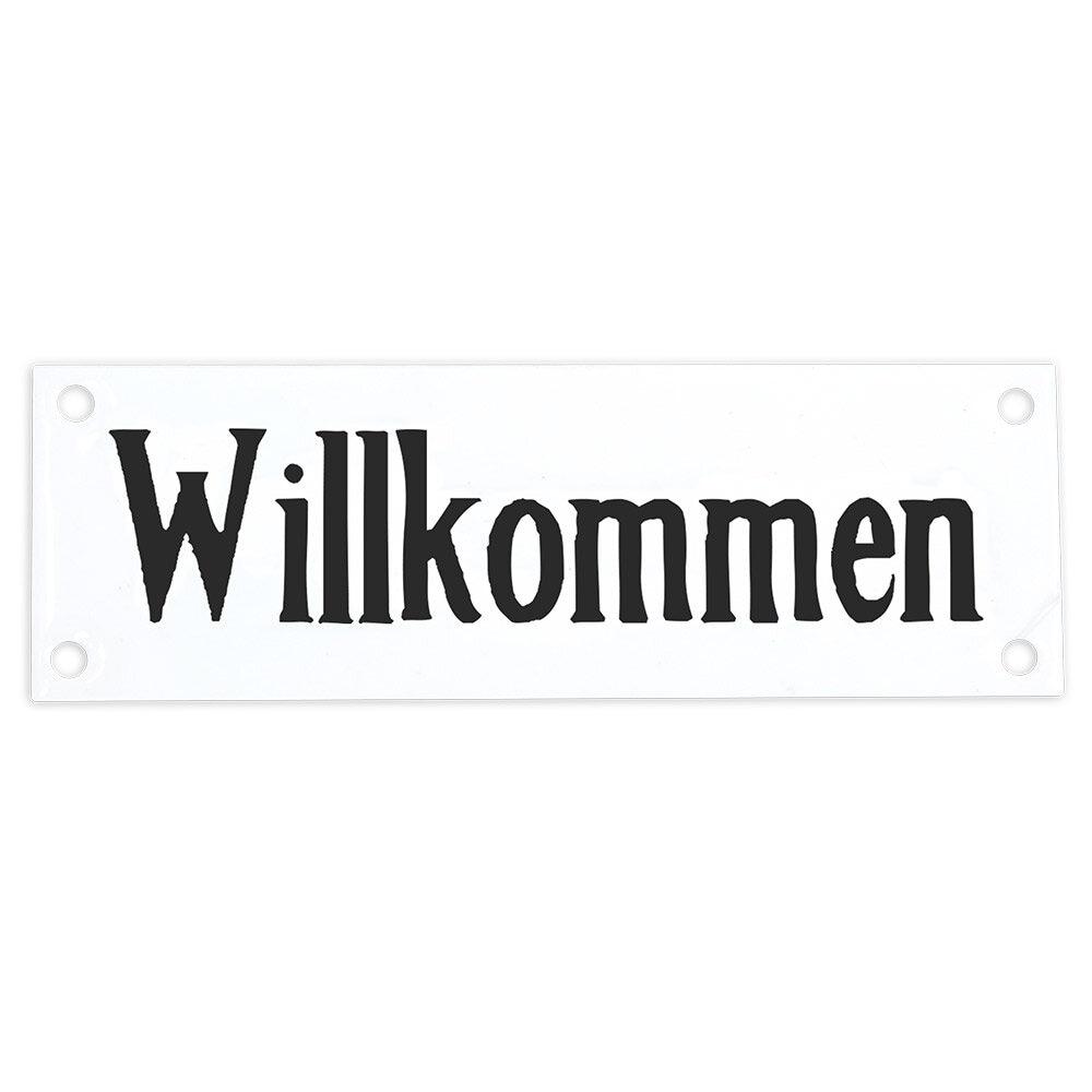 Sign Willkommen