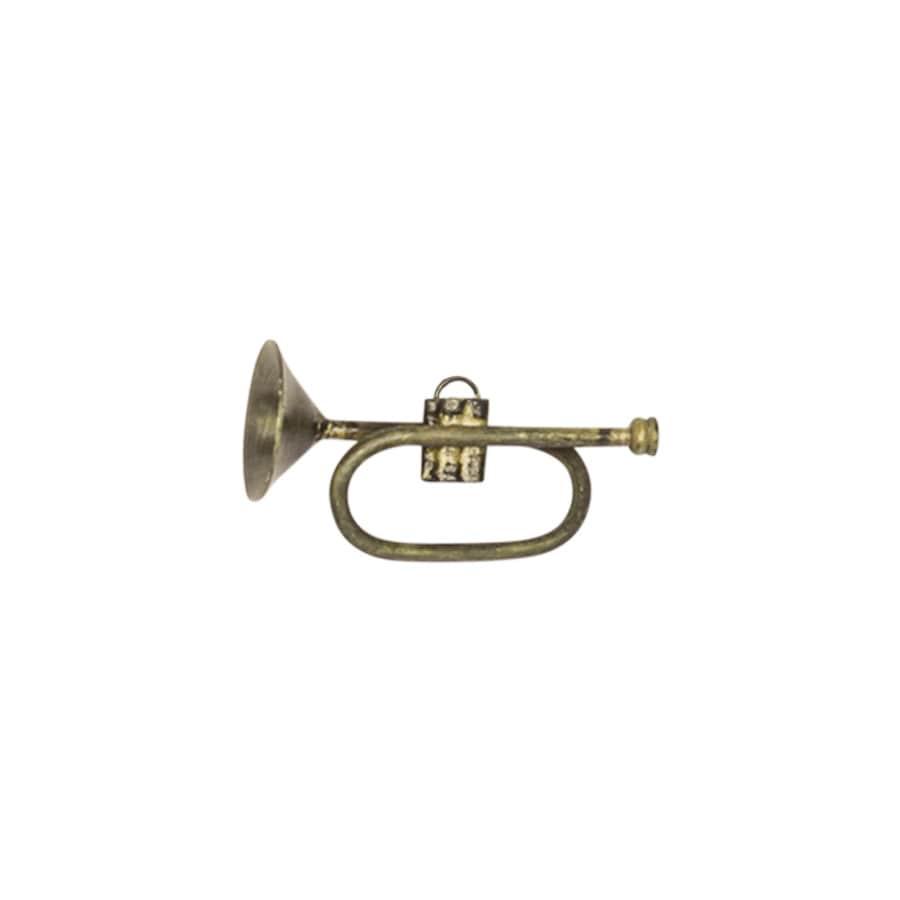 Liten Trumpet Antik Mässing