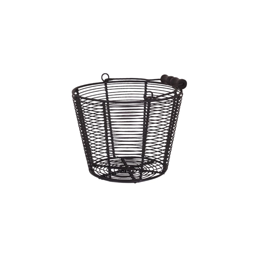 Wire Basket w. Handle Coned Black Small