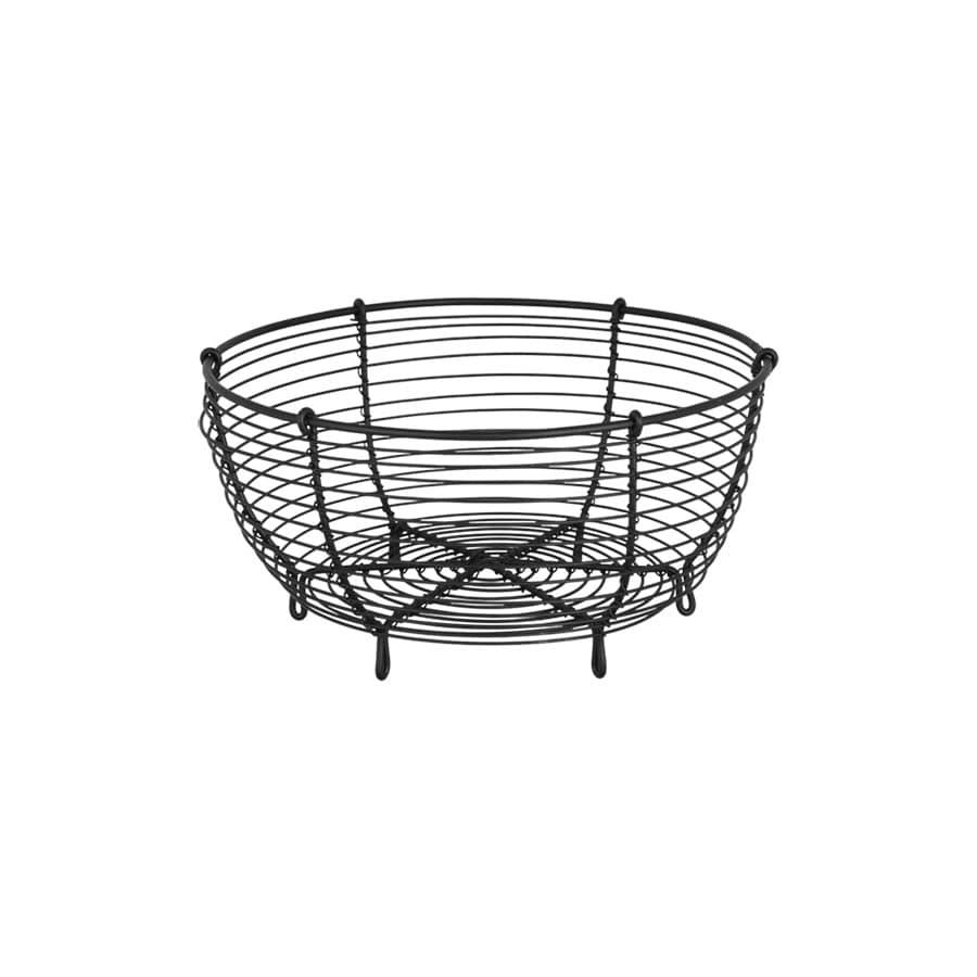 Wire Basket Round Black Small