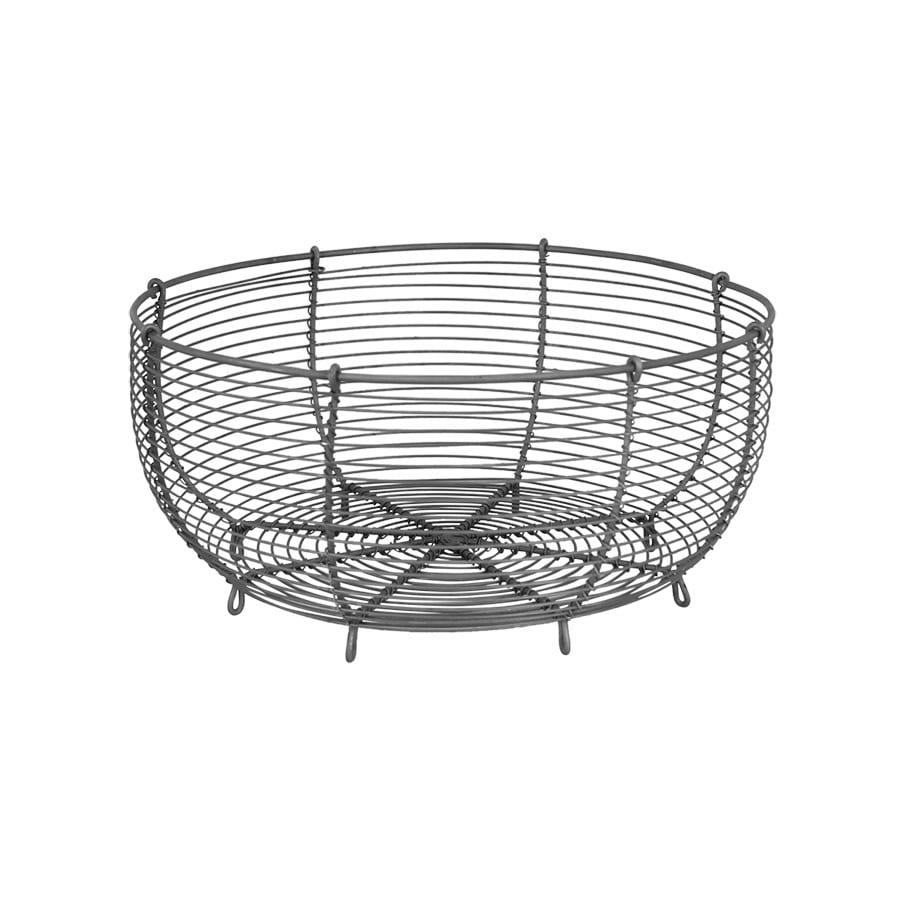 Wire Basket Round Zink Large