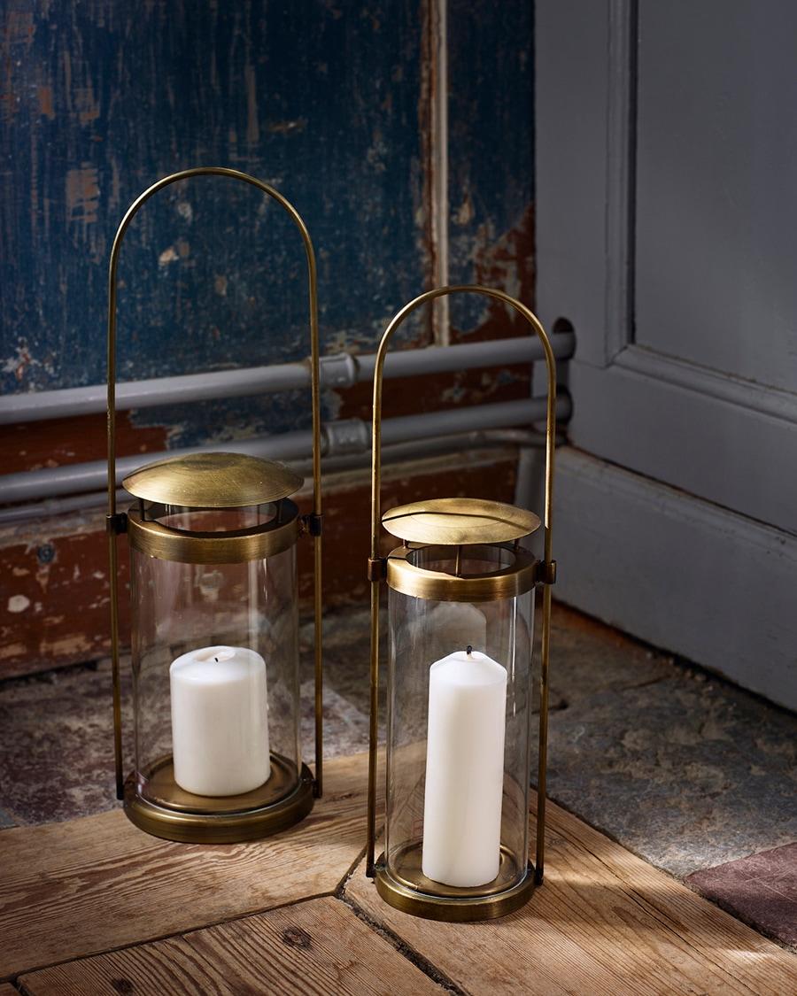 Lantern Lena Antique Brass Small