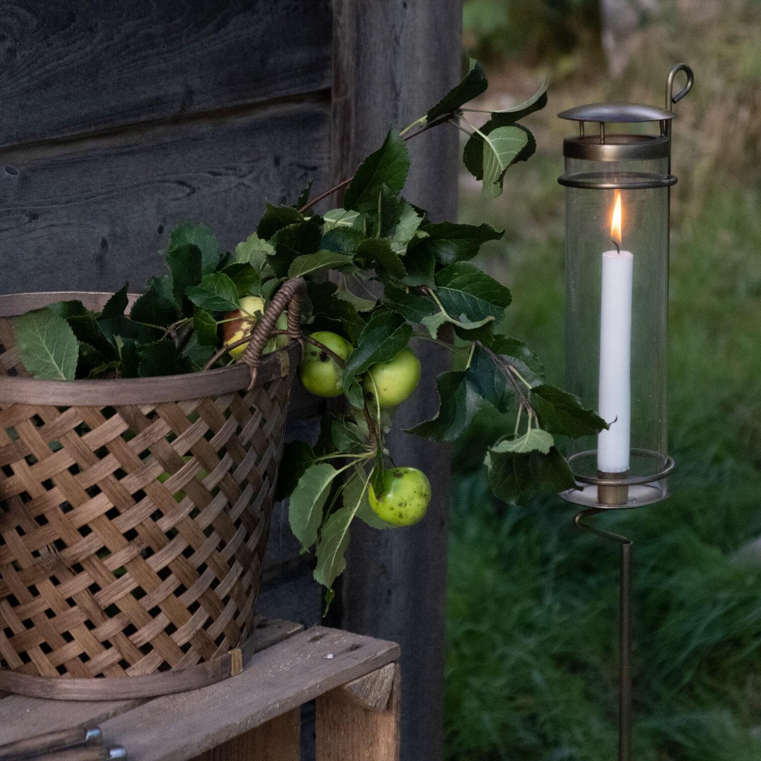 Lantern Sonja on Stick Antique Brass