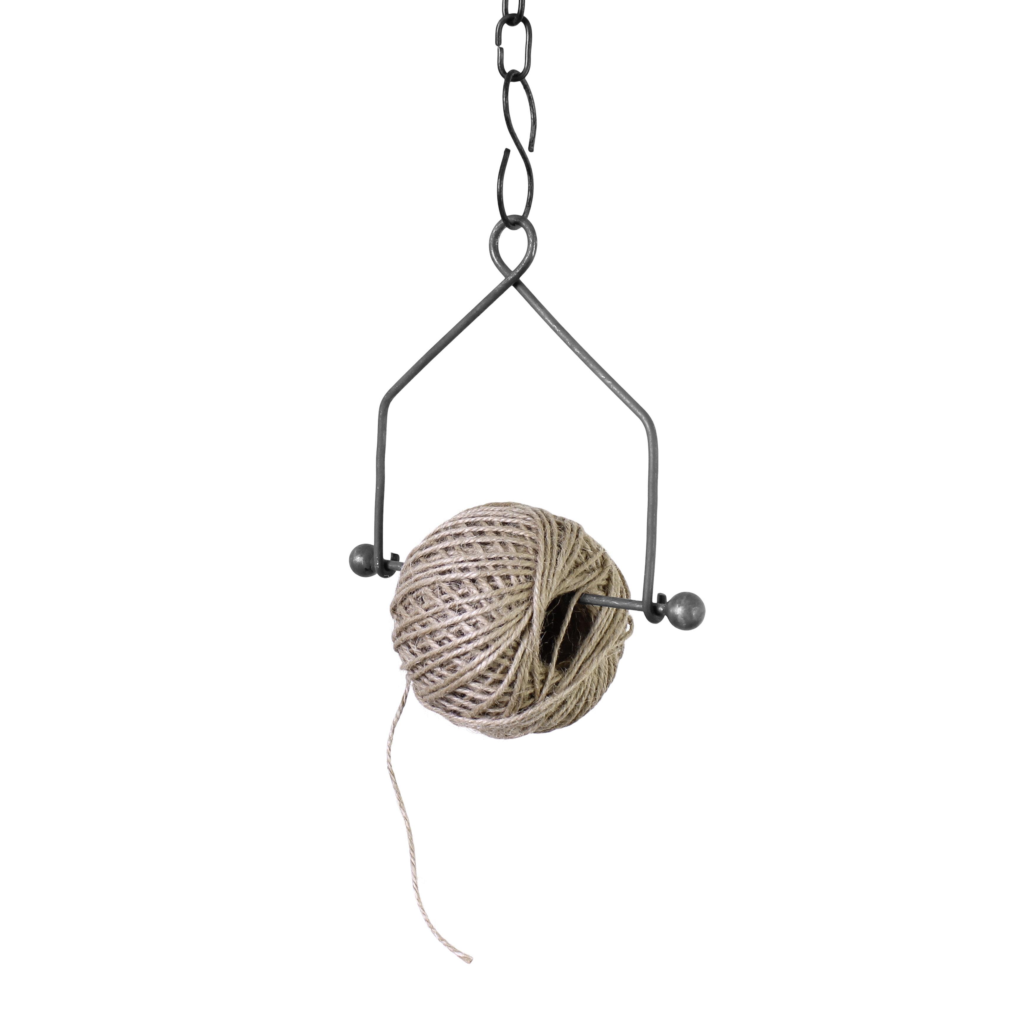 Hanging Twine Holder Zinc