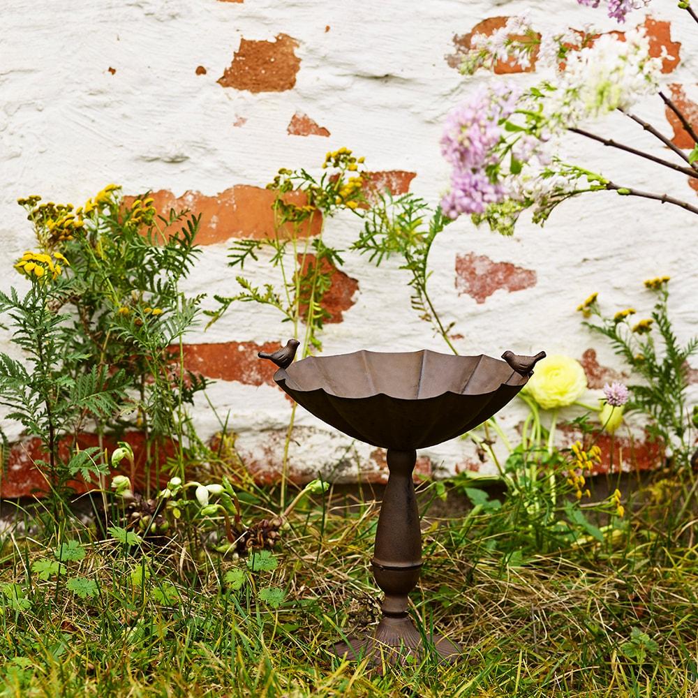 Bird Feeder Antique Brown