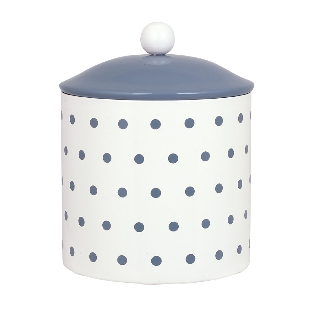 Tin Gladys Dot Blue