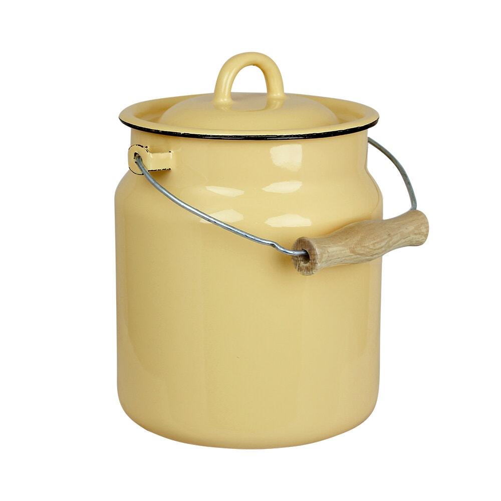 Milk Can Emil´s Enamel Yellow