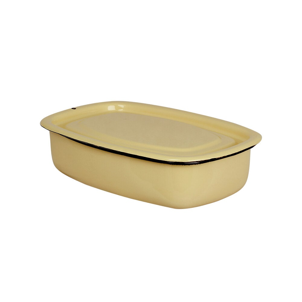 Oven Dish w. Lid Emil´s Enamel 1L Yellow