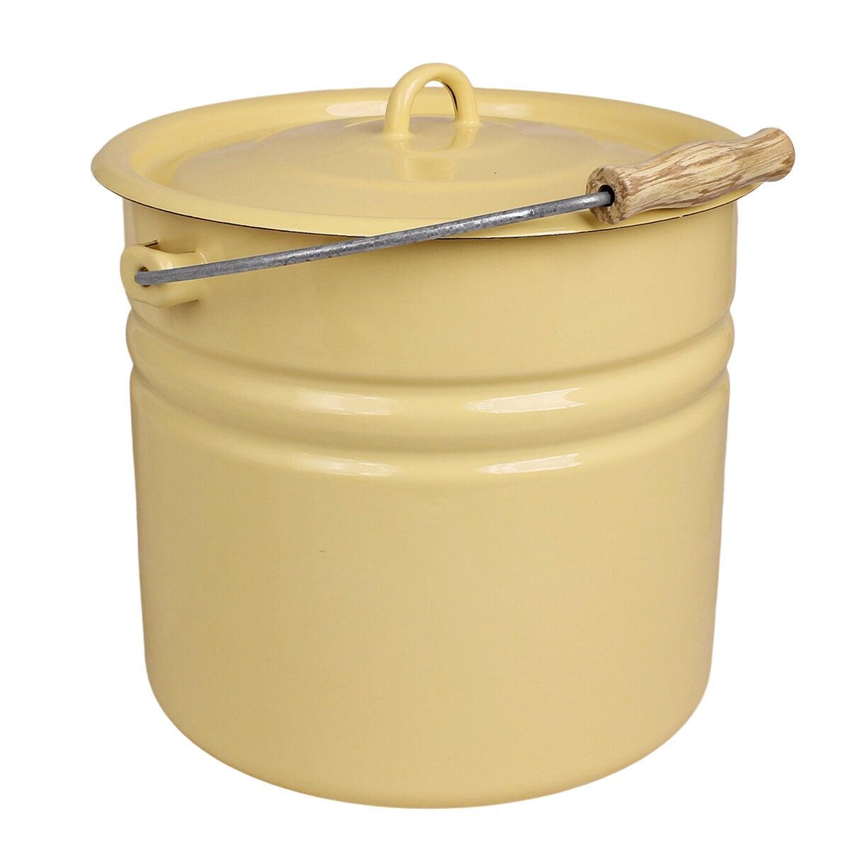 Bucket w. Lid Emil´s Enamel 12L Yellow