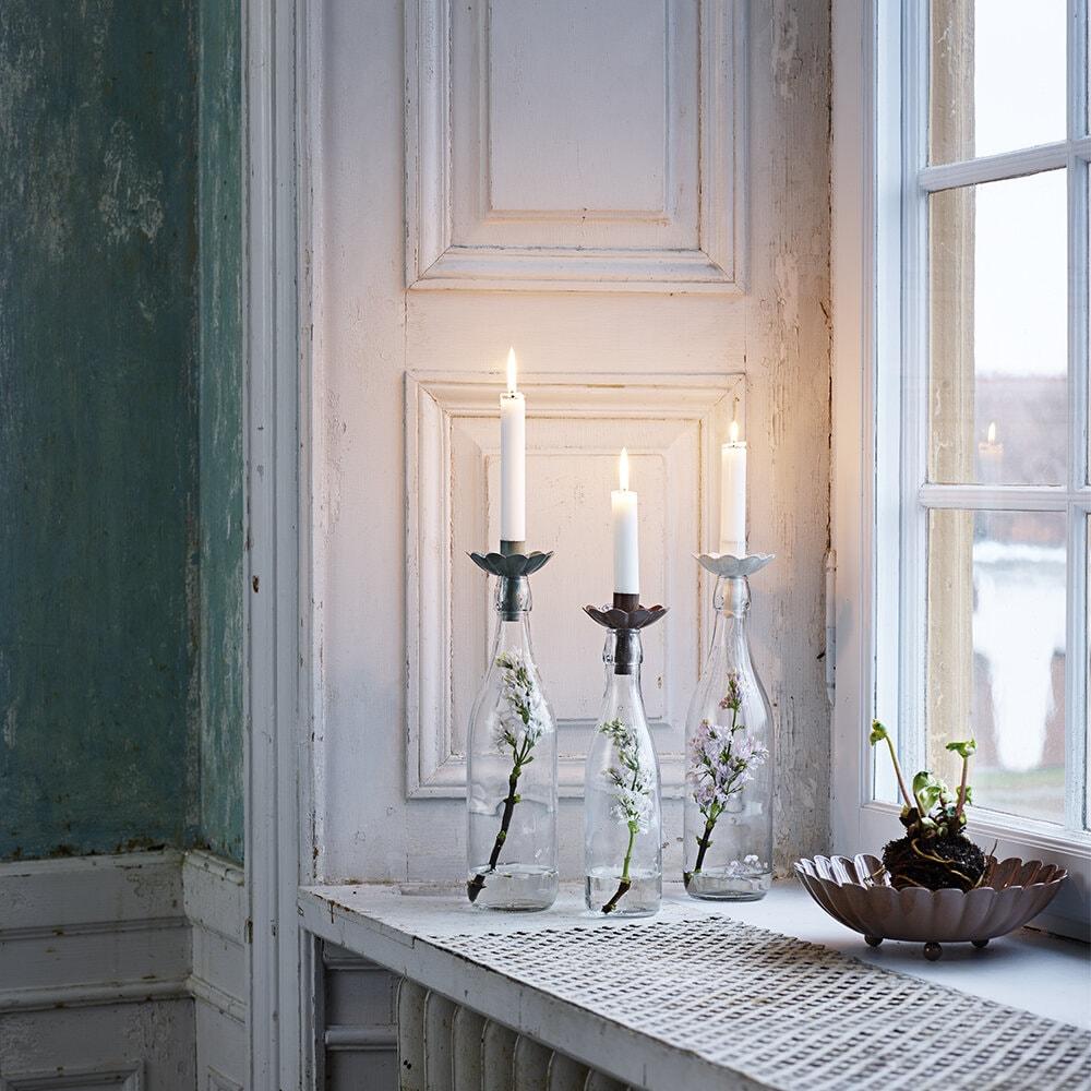 Candle Holder for Bottle Ingrid Antique White