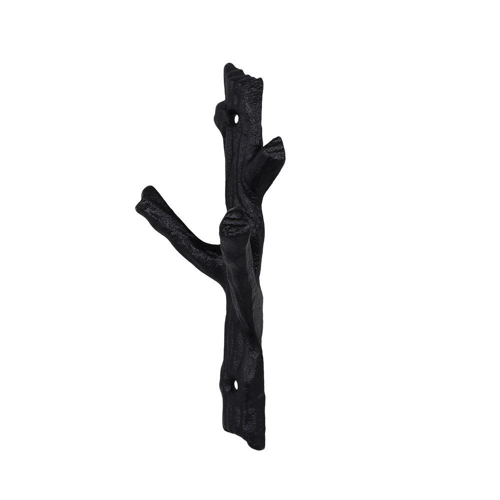 Hook Twig Cast Iron Black