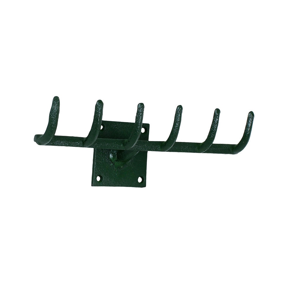 Hook Rake Cast Iron Green