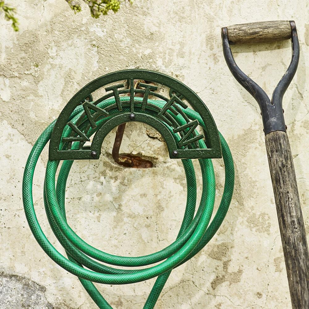 Hose Holder Vatten Cast Iron Green