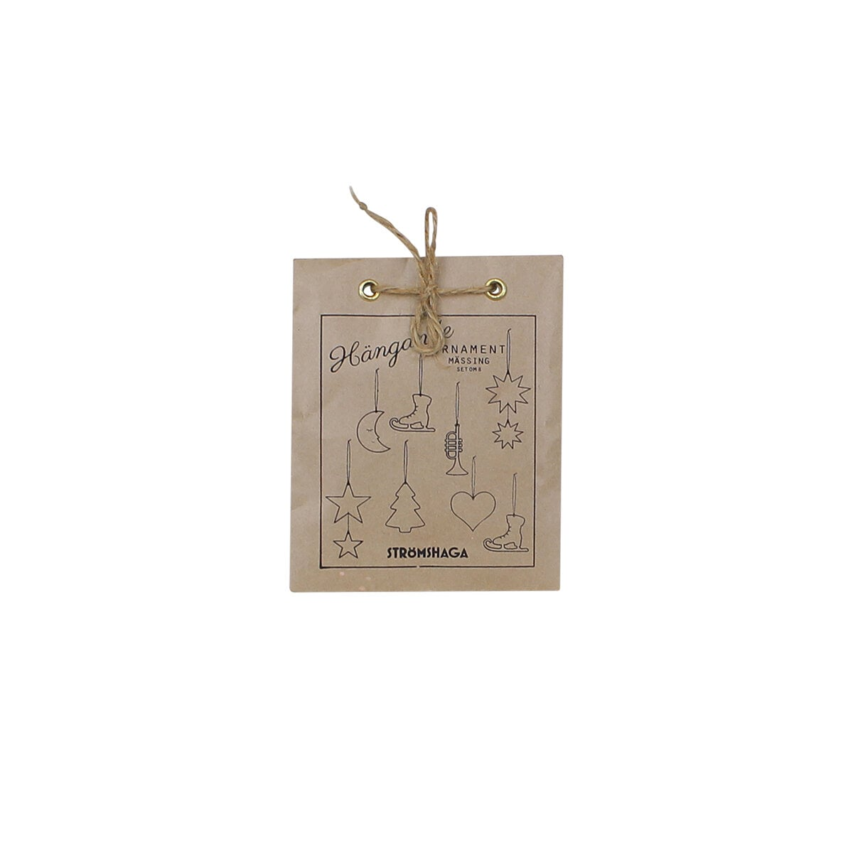 Hanging Ornament S/8 Brass