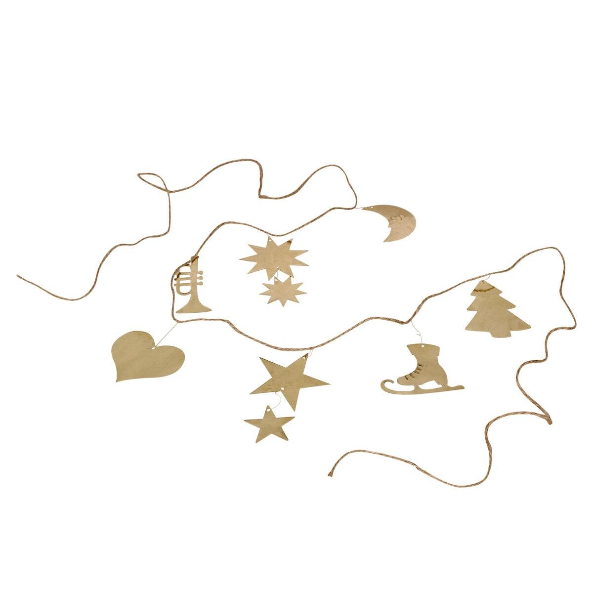 Garland Ornament Brass Short