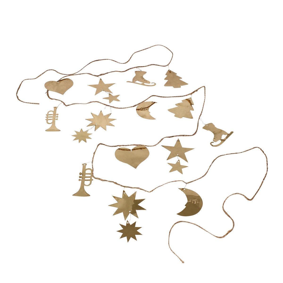 Garland Ornament Brass Long