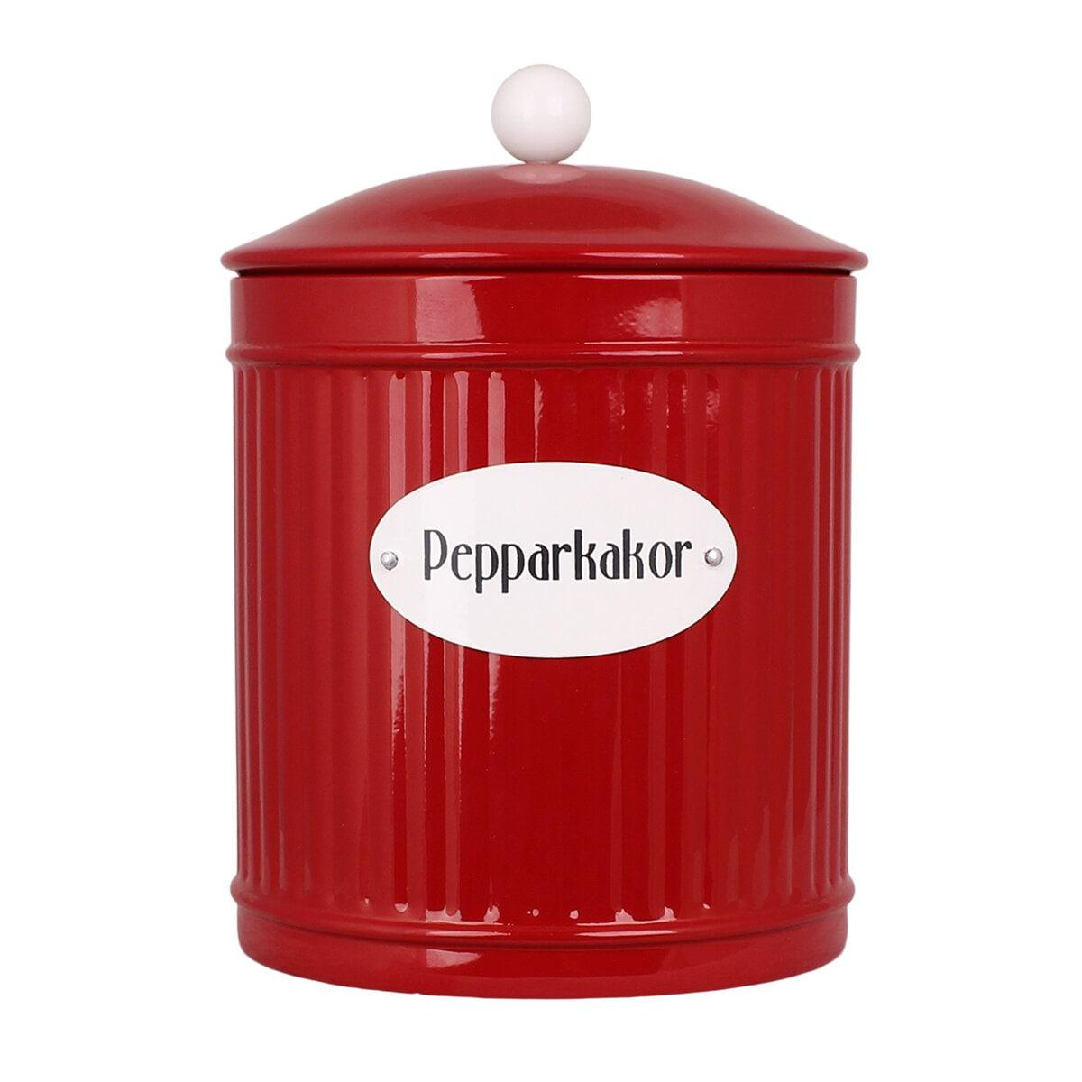 Tin Hugo Pepparkakor Red