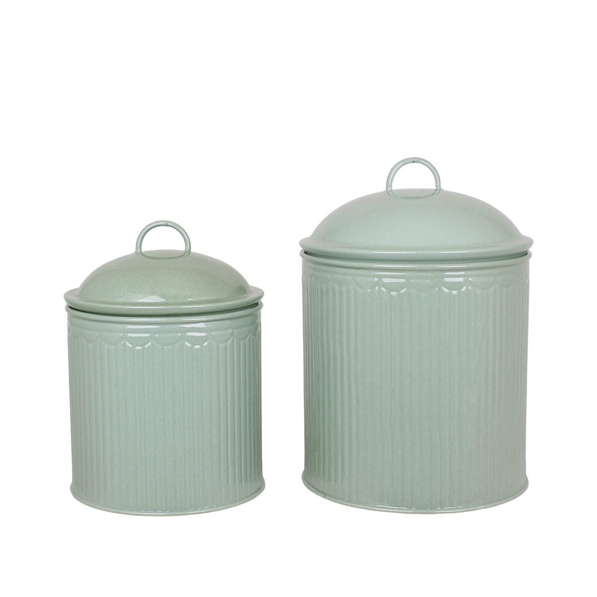 Tin Ingrid Stripe Green S/2
