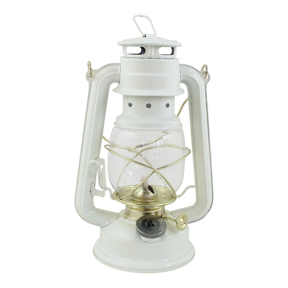 Hurricane Lantern White/Brass Small