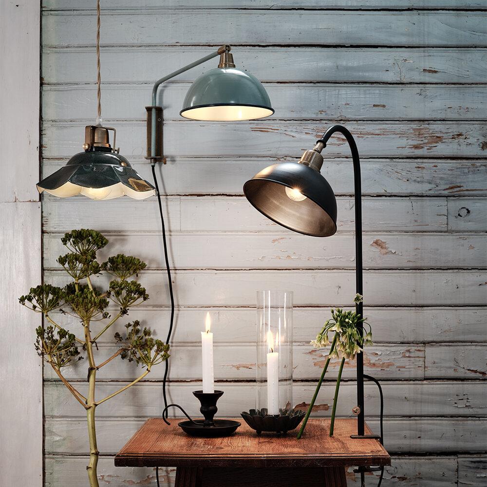 Table Lamp Pelle Black/Brass