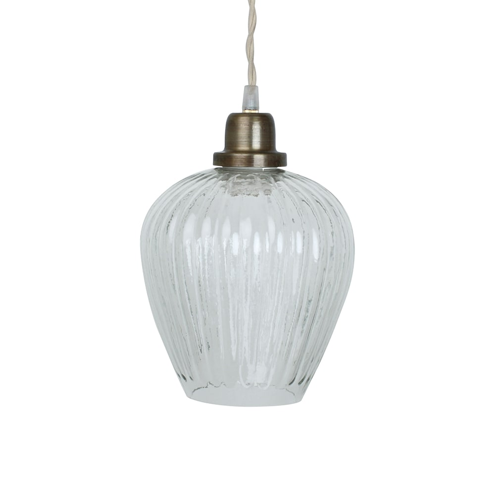 Pendant Lamp Gunilla Cup Clear/Antique Brass