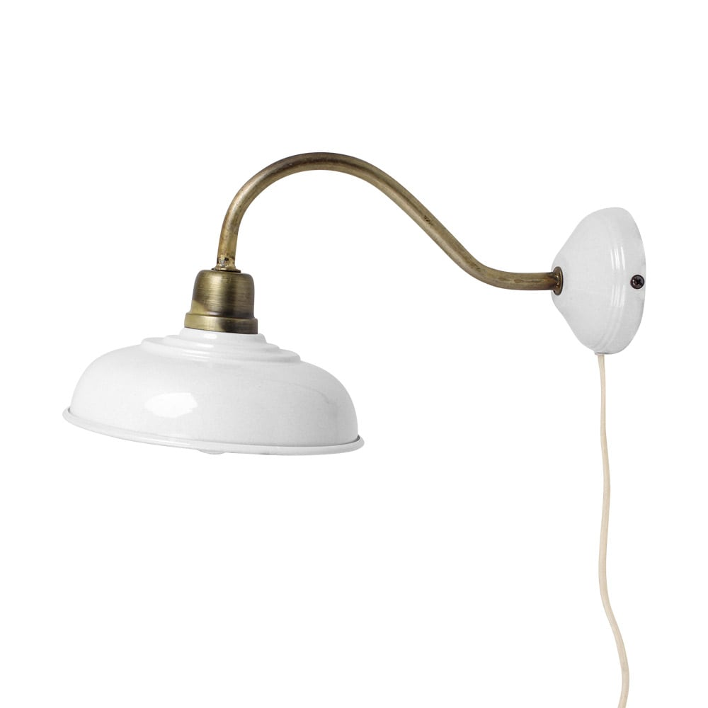Wall Lamp Birgith Antique White/Brass