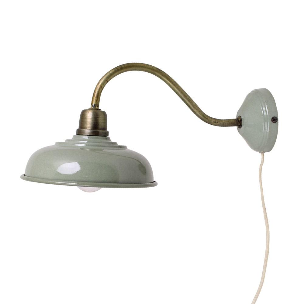 Wall Lamp Birgith Antique Green/Brass