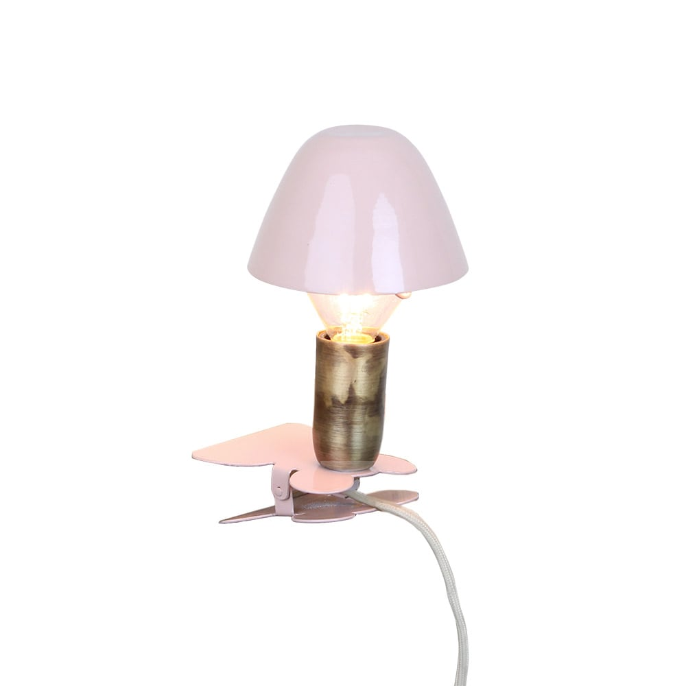 Lamp Mini On Clip Pink