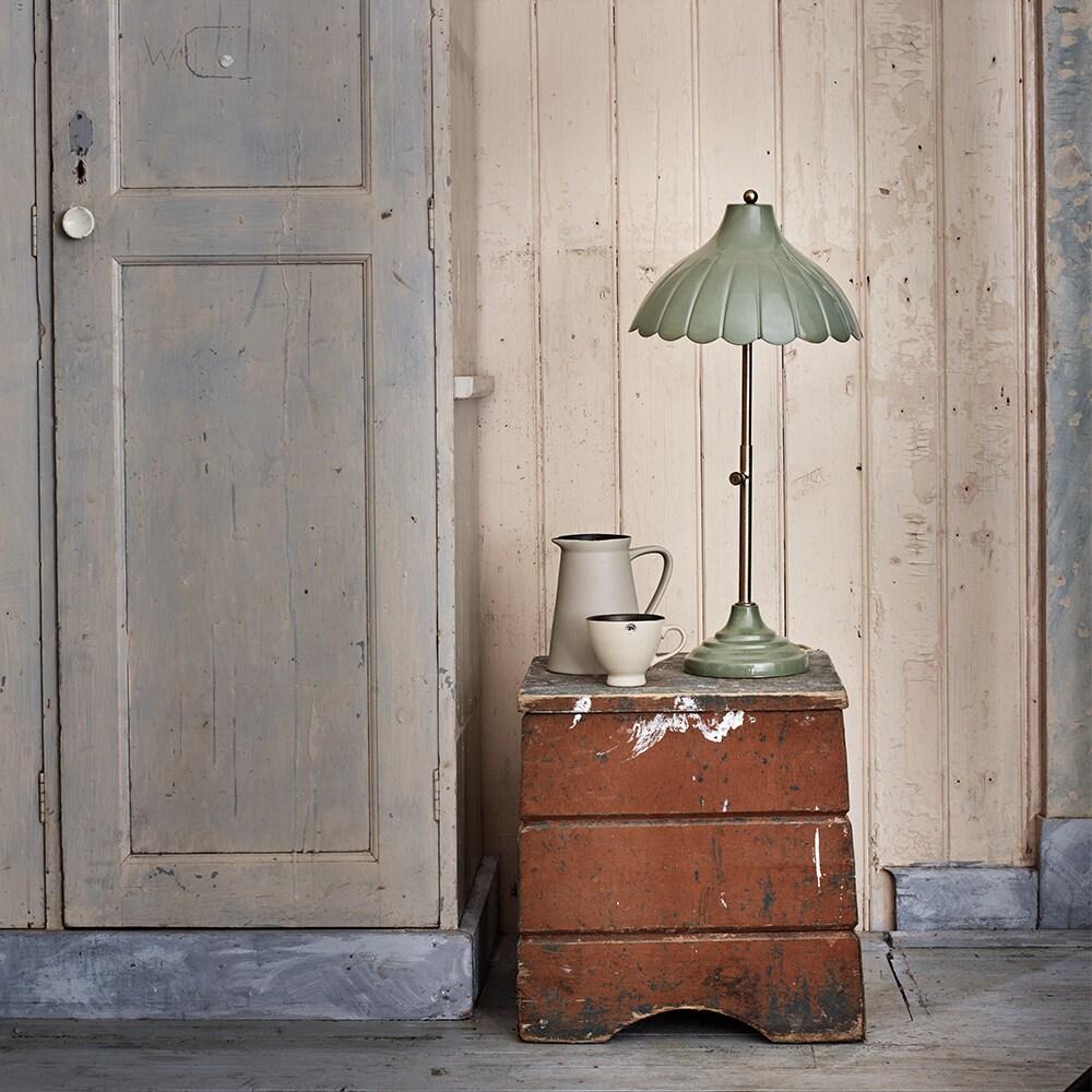Table Lamp Annie Antique Green